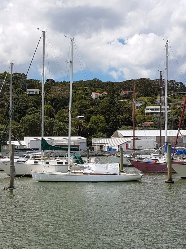 Y2 VARUNA back in the water and moored at Whangarei, NZ